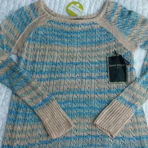 Love Stitch Sweater Size Medium